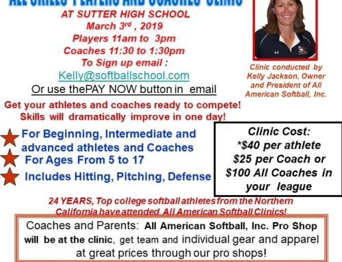 All Skills  Players and Coaches  Clinic – March 3rd 2019