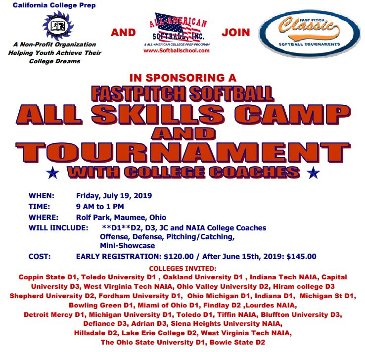 All Skills Camp and Tournament with College Coaches – Friday